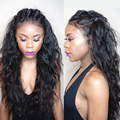 Full Lace Human Hair Wigs for Black Women Glueless Full Lace Wigs Brazilian Virgin Hair Water Wave Lace Front Human Hair Wigs
