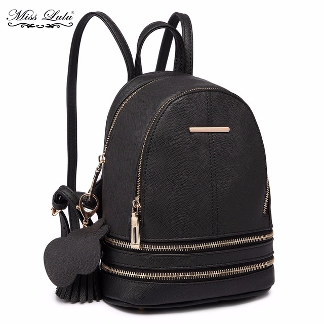 Miss Lulu Women Designer Luxury Fashion Backpacks S Pu Leather Mini School Bags Las Small