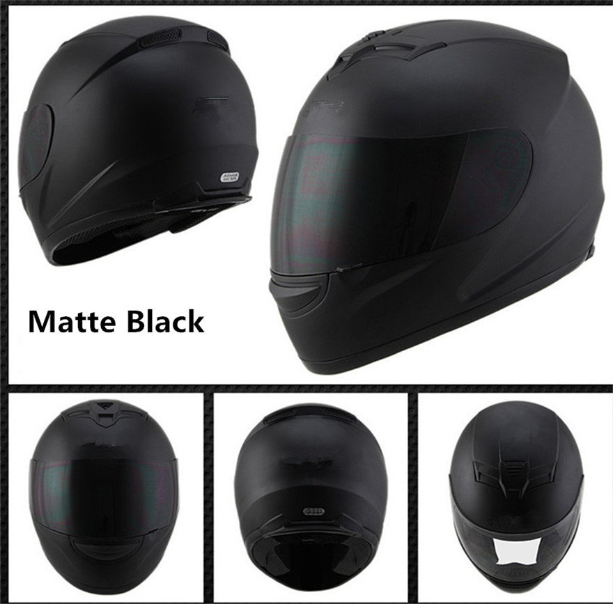 Full Face Motorcycle Street Bike Helmet with Removable Winter Neck Scarf DOT (L, Matte Black)Full Face Motorcycle Street Bike Helmet with Removable Winter Neck Scarf DOT (L, Matte Black)