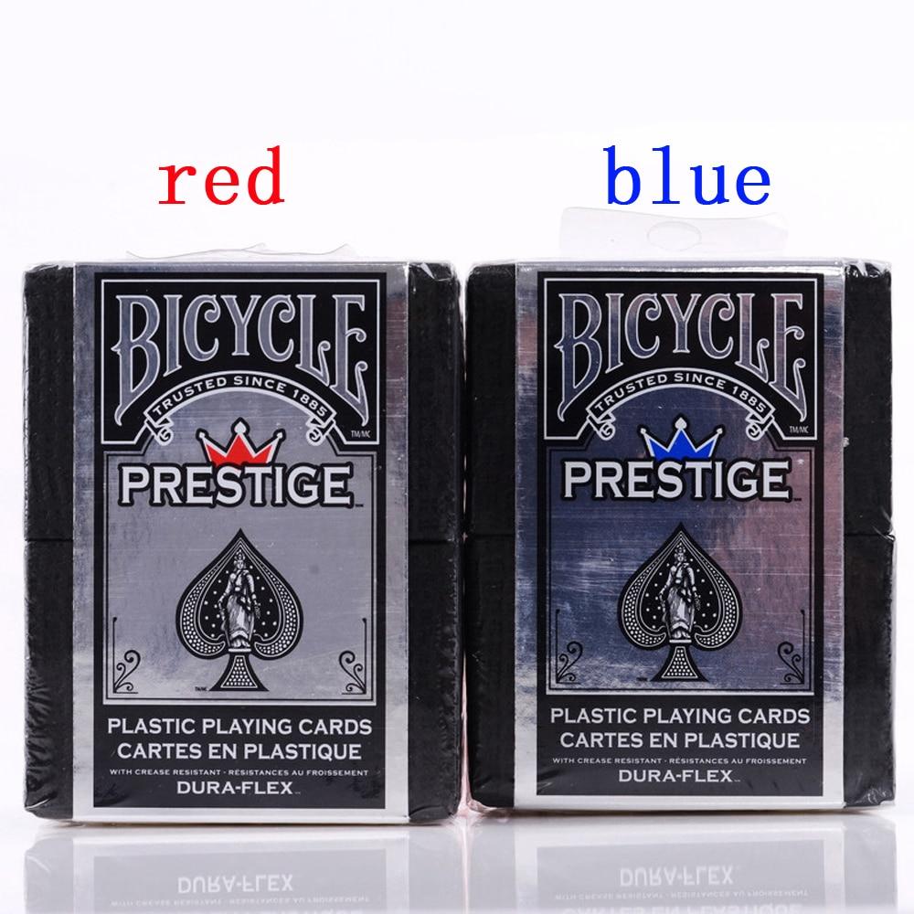1 Däck Cykel Standard Prestige Playing Cards Röd eller Blå 100% Plastkort Högkvalitativa USPCC-spelkort Magic Tricks