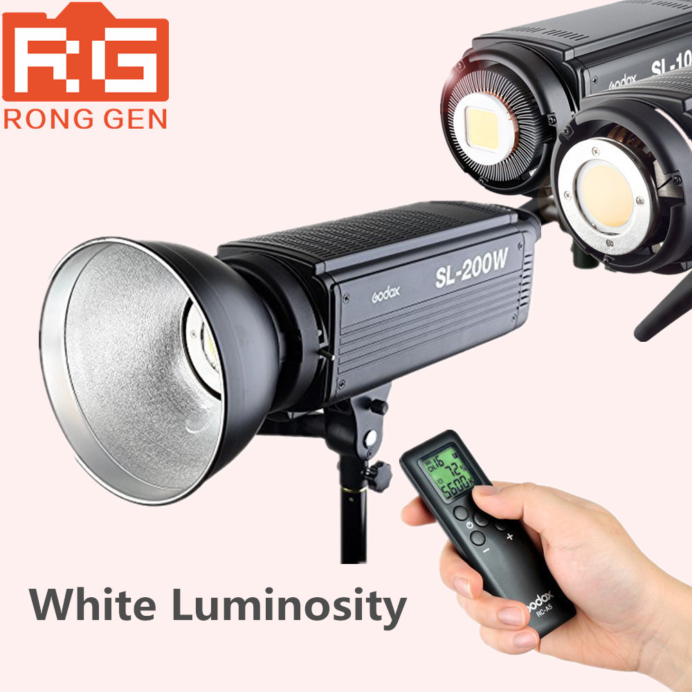 Godox SL-200W White Version LCD Panel LED Video Light Wireless Control for Wedding, Journalistic, Video Recording Photo Studio godox professional led video light led308w wireless 433mhz grouping system 308 led bulbs of high brightness white version