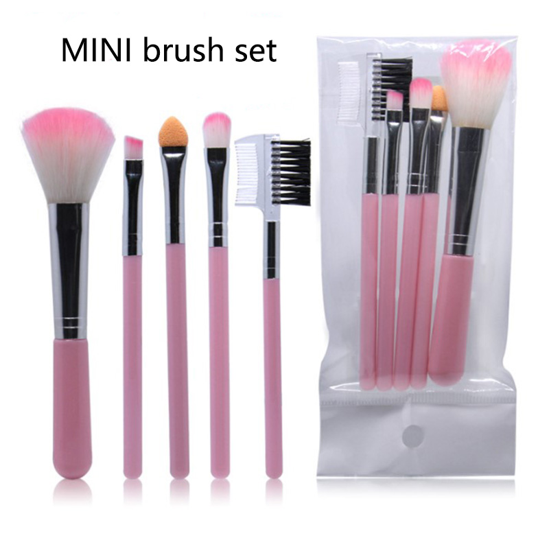 NICE FACE 5Pc Makeup Brushes Cosmetics Tools Eyeshadow Eye Face hand to Make up Brush Set Blush Soft Brushes Makeup Toiletry kit new makeup brushes black aluminum retractable blush brush make up professional tools nice gift for you maquiagem face concealer