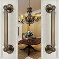 Door Wardrobe European Antique Copper Solid Wooden Door Sliding  Door Handle Cabinet Drawer Handle(C.C:255mm,L:310mm)