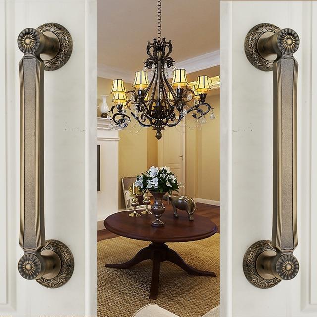 Door Wardrobe European Antique Copper Solid Wooden Door Sliding Door Handle  Cabinet Drawer Handle(C.C