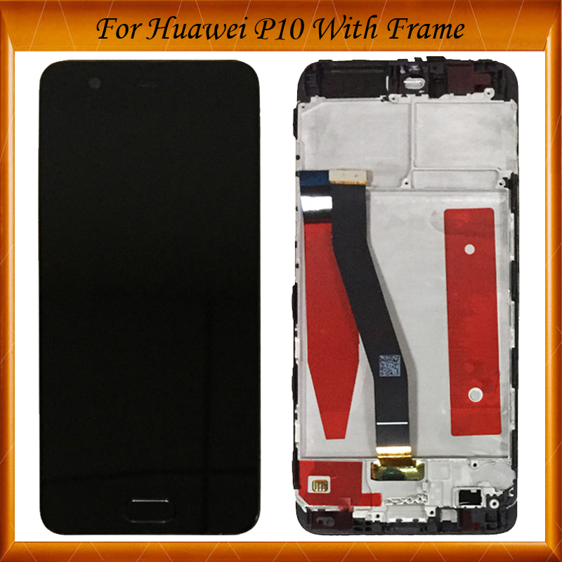 For 5.1 inch Huawei P10 VTR-AL00 VTR-L09 VTR-L29 VTR-TL00 LCD Display+Touch Screen Digitizer Assembly Replacement With FrameFor 5.1 inch Huawei P10 VTR-AL00 VTR-L09 VTR-L29 VTR-TL00 LCD Display+Touch Screen Digitizer Assembly Replacement With Frame