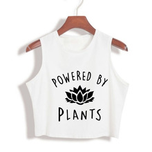 """Powered by Plants"" summer women's Tank Top / 3 colors"