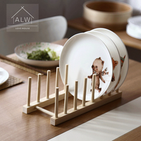 ANTOWALL Multi function kitchen plate shelf Wooden dish rack dish holder Kitchen storage rack drain rack