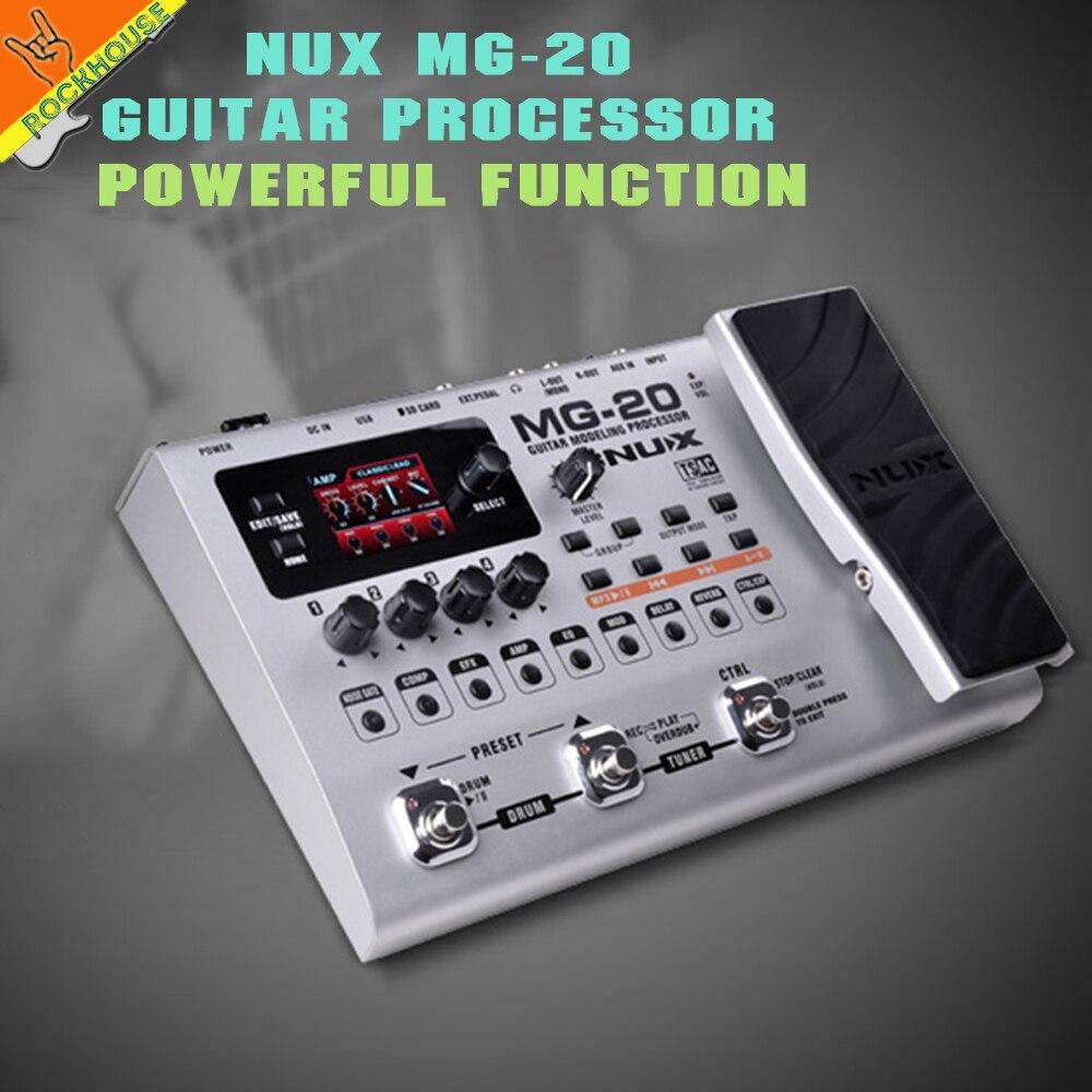 NUX MG-20 guitare multi-effets pédale Guitarra modélisation processeur effets 60 effets modèles 36 préréglages utilisateur 36 préréglages d'usine