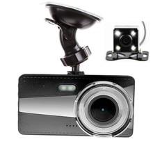 Car DVR 4 inch Car Camera Full HD 1080P WDR Video Recorder G Sensor Dual Lens Car Camera 170  Wide Angle