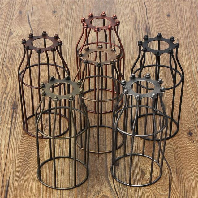 Retro vintage lamp covers pendant chandelier light bulb guard wire retro vintage lamp covers pendant chandelier light bulb guard wire cage industrial ceiling hanging fitting bars aloadofball