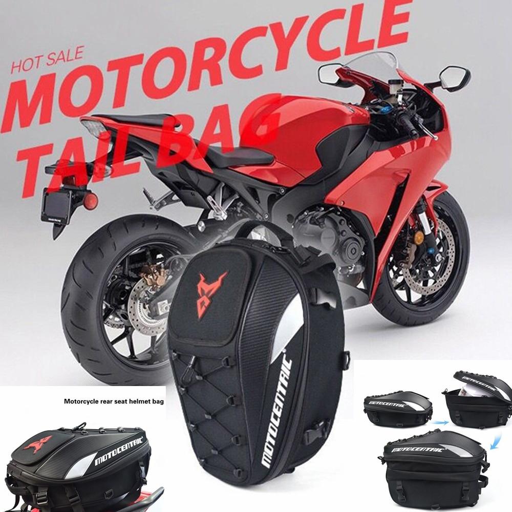 Motorcycle rear seat package hangback bag Moto Helmet Travel Bags Suitcase Saddlebags Motorcycle Tail Bags Back Seat Bags Kit кофры komine
