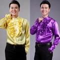 Lado luminoso de los hombres camisa camisa de encaje trajes coro masculino y femenino de Gala Anual