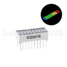 5 шт., 10-сегментный 4-цветный светодиодный индикатор уровня заряда батареи, 5 В