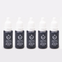 5pcs/lot JET BLACK Biotouch Ink Permanent Makeup Pigment For Eyebrow 15ml(1/2OZ) Micropigment Cosmetic Tattoo Ink