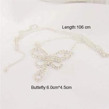 Rhinestone Butterfly America Body Chain4