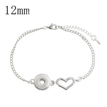 2018 Fashion Charms Heart lover Snap Bracelets Bangles For Women Students Girls snap jewelry Party Gift fit 12mm Snap button