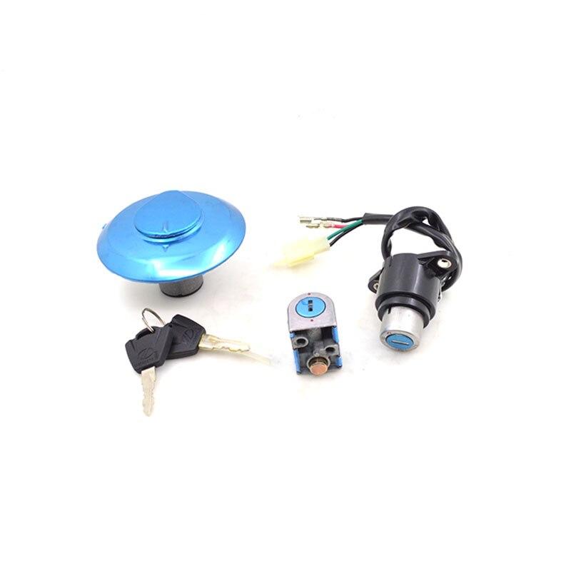 2088 Motorcycle Ignition Switch Lock+Fuel Gas Tank Cap Cover Lock+Steering Lock Set For Honda CM125 CM 125 Spare Parts стоимость