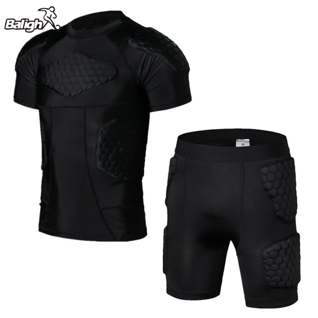 2aa4d5bb0 Anti-collision Basketball Jersey Quick Dry Training Vest Shorts College  Throwback Football Jerseys Body Protection