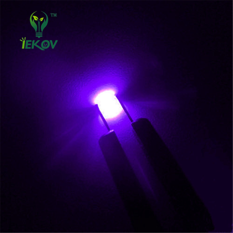 100pcs 0603 SMD UV Purple <font><b>led</b></font> Super Bright SMT <font><b>LEDS</b></font> Light Diode Water Clear 395-<font><b>400nm</b></font> DIY LIGHT image
