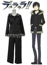 Free Shipping DuRaRaRa!! Izaya Orihara Black Uniform Anime Cosplay Costume
