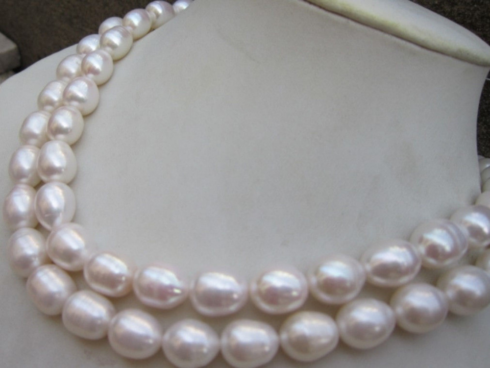 9c2aade55d095 FREE shipping>>>>10-13MM NATURAL WHITE SOUTH SEA BAROQUE PEARL NECKLACE 32
