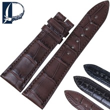 Pesno Men Watchband Black Brown Dark Brown Alligator Leather Watch Strap Suitable for Blancpain VILLERET Watch Band