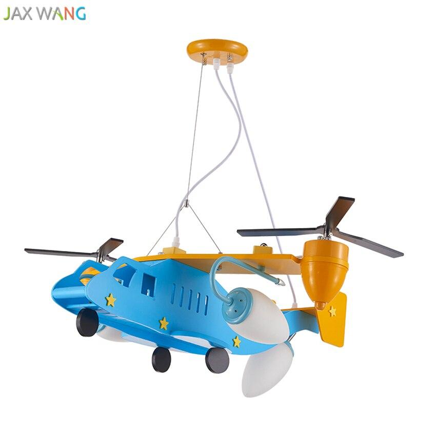 Cartoon Aircraft Pendant Lights Led Hanging Lamp