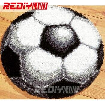 Caliente 3D juego de alfombra con gancho de enganche DIY, Alfombra de ganchillo sin terminar, cojín, alfombra bordada, alfombra, decoración para el hogar de fútbol