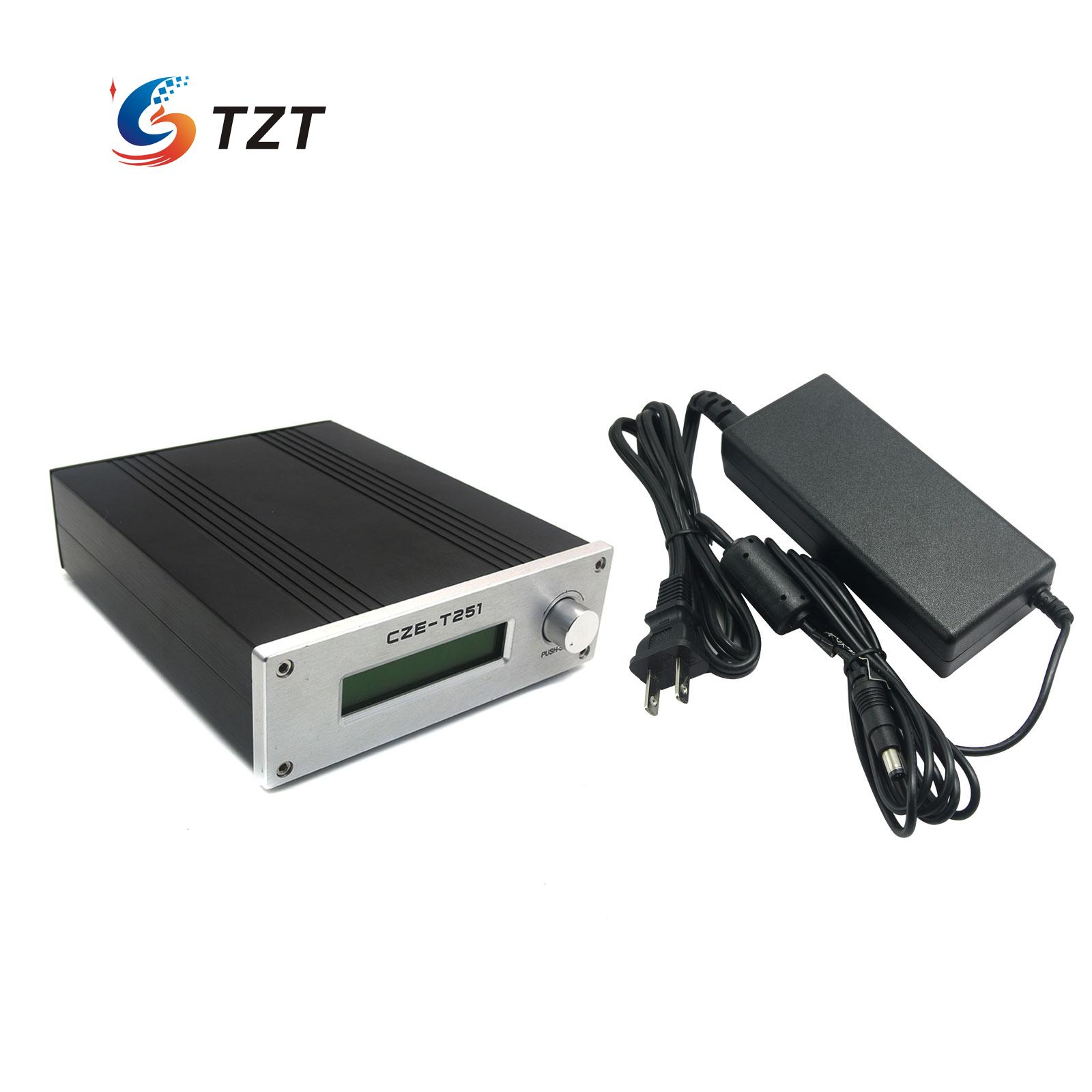 0-25W FM Transmitter CZE-T251 Adjustable 87-108MHz Mono Stereo PLL Broadcast Station with Power Supply 100w 150w 2u professional fm broadcast radio transmitter fm transmisor 87 108 mhz dipole antenna
