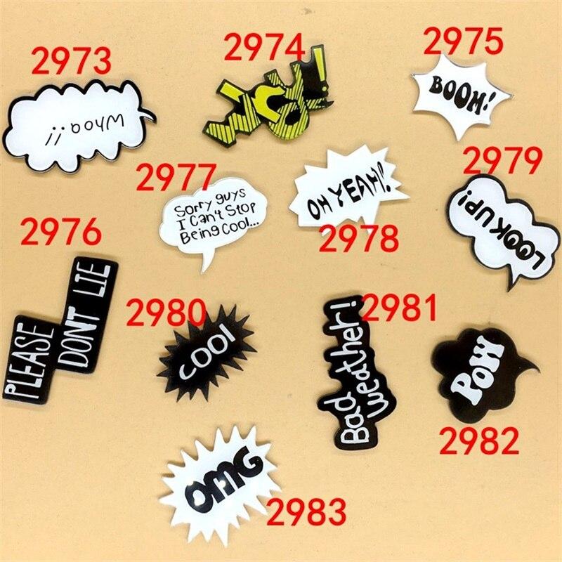 Us 079 1 Pc Kartun Acrylic Bros Kata Keren Omg Boom Badge Bros Ransel Tas Mahasiswa Pakaian Bros Pins Bros Pakaian Dekorasi In Bros From Perhiasan