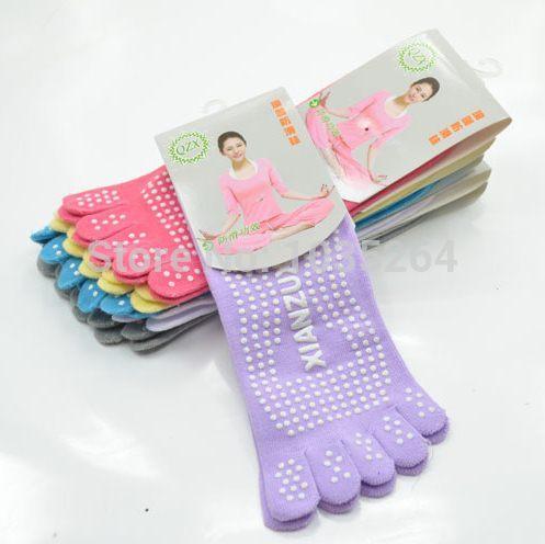 ①  Хлопок Toe Полный Палец Йога Носки Женщины 6 Цветов Свободный Размер ①