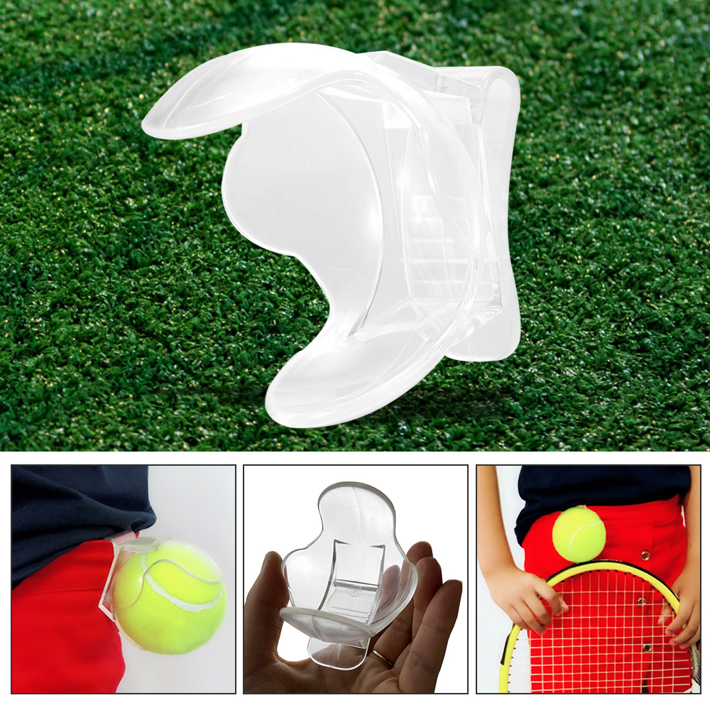 1Pcs Tennis Ball Clip Professional Tennis Ball Holder Waist Clip Transparent Holds Tennis Ball Accessories Training Equipment