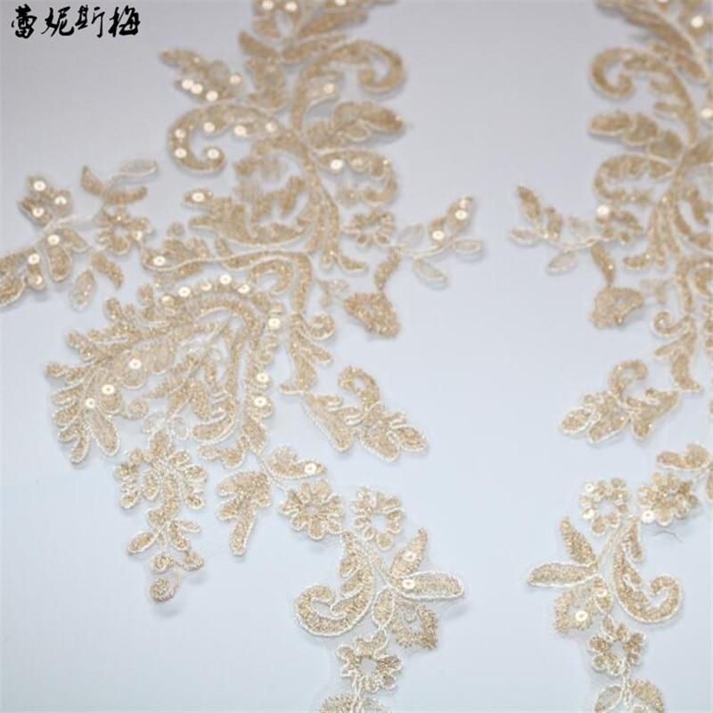 Glass bird in white glitter WEDDING silver plated with fabric appliqu\u00e9s