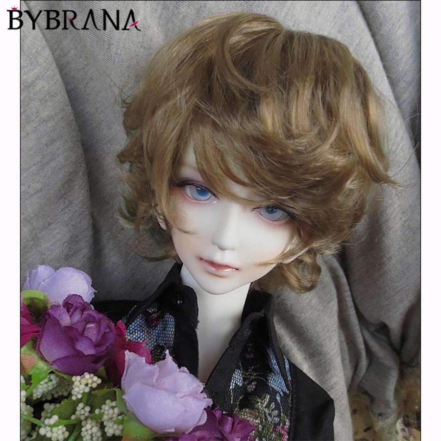 Bybrana SD BJD Wig 1/3 1/4 Gray Curly Hair For Dolls Free Shipping