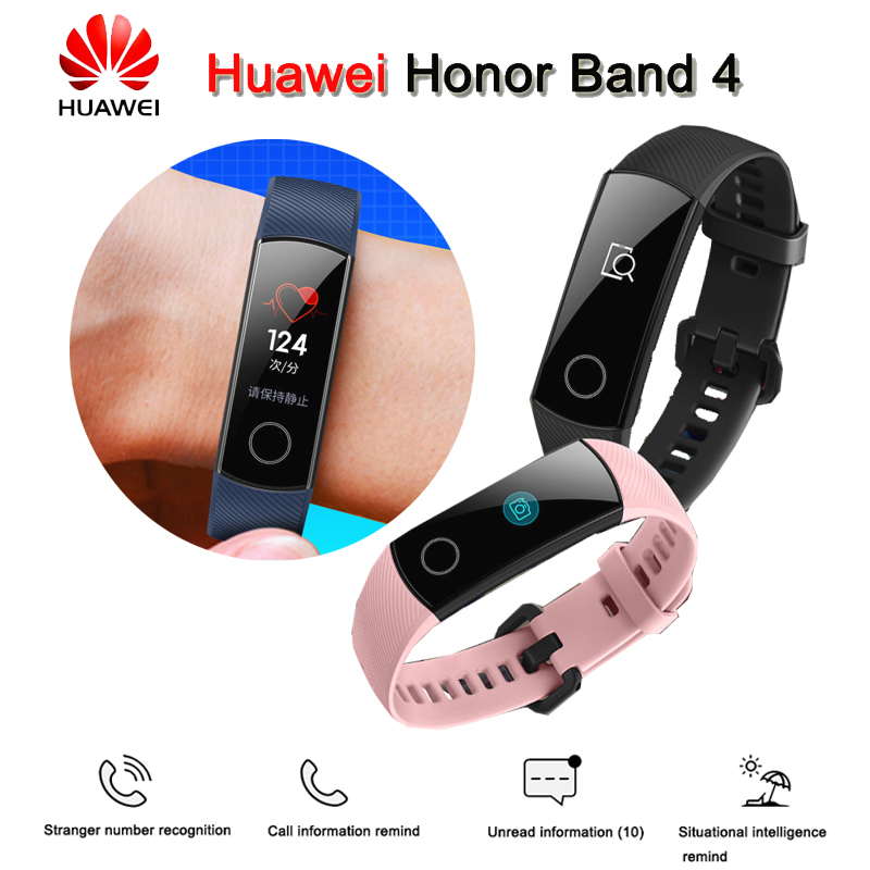 Original High Quality Huawei Honor Band 4 Smart Wristband Amoled 0 95 Touchscreen Swim Posture Detect