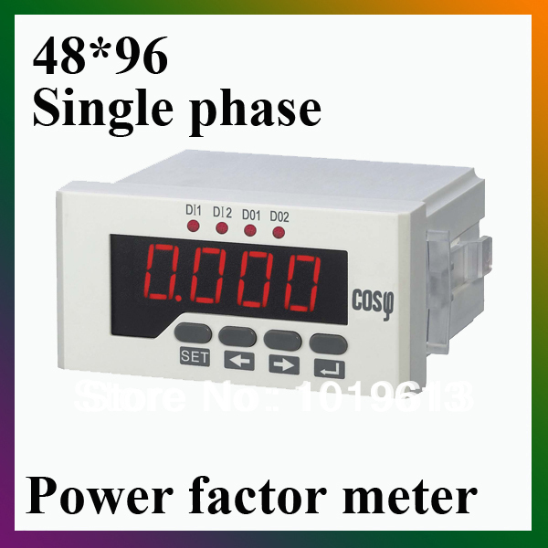 single phase power factor meter COS meter LED digital panel meter