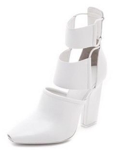 Women summer small pointed peep toe white black wide strap cutout thick square high heel knee high boots women long sandals solid black women wide strap competition