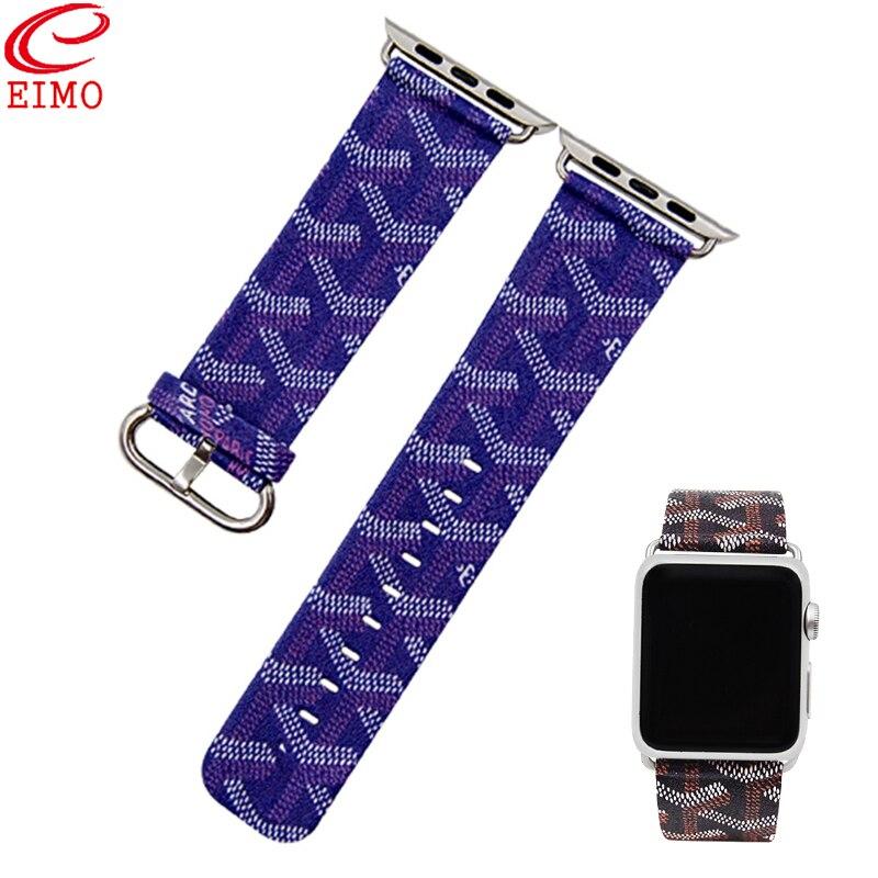 EIMO Braccialetto Per Apple Watch Band 4 3 Iwatch Fascia 42 millimetri 44 millimetri 38 millimetri 40 millimetri di serie 2 1 genuino Beather Cinturino Da Polso Correa Cinturino