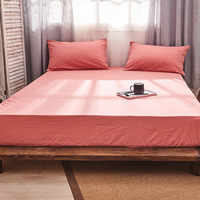 1pcs cotton bed sheet bed cover bedspread With Elastic Band couvre lit sabanas Fitted Sheet Mattress Cover high 25cm