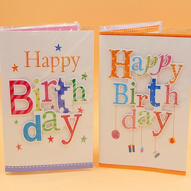 happy birthday postcard greeting gift cards music and light cute handmade birthday gift card 10pcs - Happy Birthday Gift Card