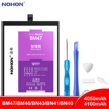 NOHON BM47 BM46 BN43 BN41 BN40 Battery For Xiaomi Redmi 4 Pro 3 3S 3X 4X Note 3 4 4X Replacement High Capacity Phone Bateria(China)