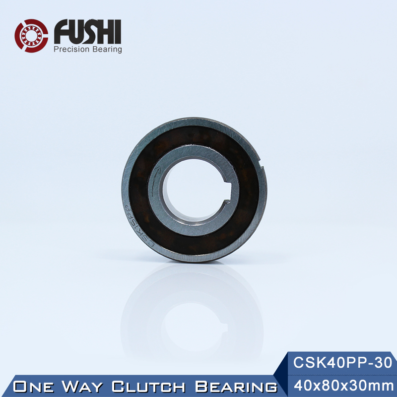 CSK40PP-30 One Way Bearing Clutches 40*80*30mm ( 1 PC) With Keyway CSK6208PP FreeWheel Clutch Bearings CSK208PP