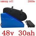 48В аккумулятор 48В 30ач батарея для электровелосипеда 48В 30ач литий-ионный аккумулятор для использования samsung для 48В 1000 Вт 2000 Вт ebike мотор