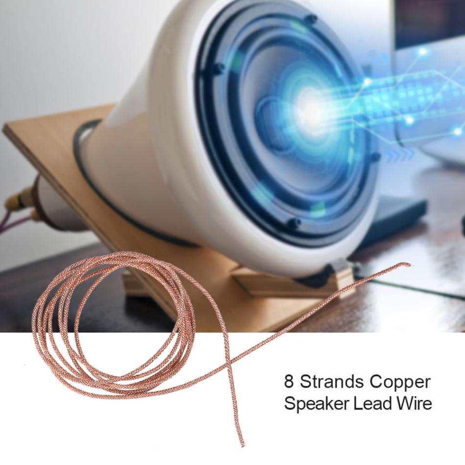 8 strands Braided Copper Wire for Speaker Lead Wire Subwoofer Woofer Lead Wire Repair