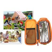 Портативный сетчатый мешок для сушки, открытый вилки и нож, сушилка, органайзер для барбекю, сумка для пикника, посуда, сумочка для продуктов, походная сумка для хранения