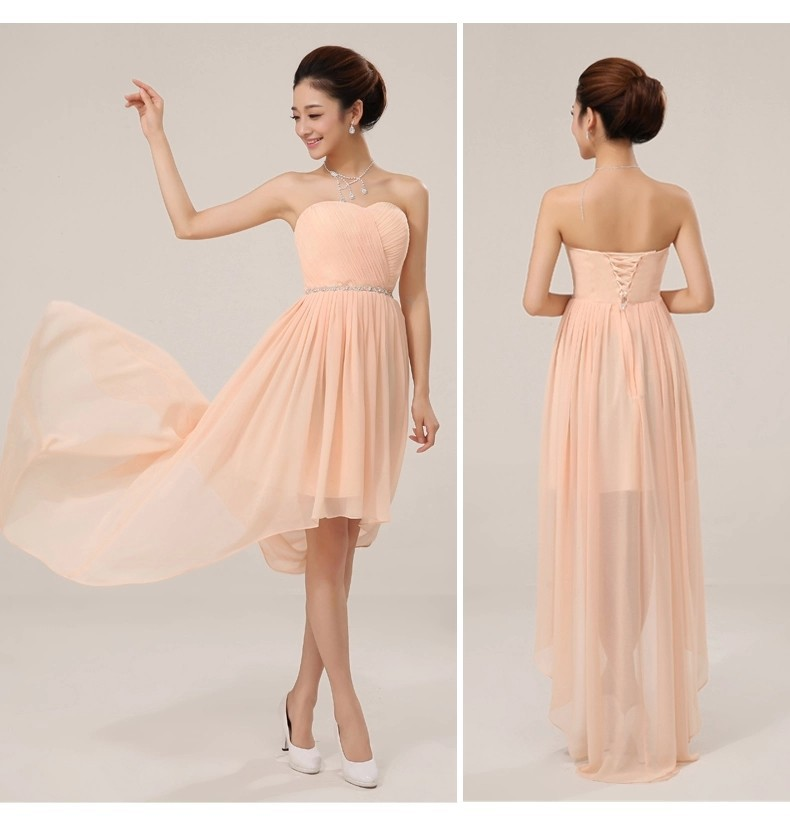 Bridesmaid Dress Short In Front Long In Back
