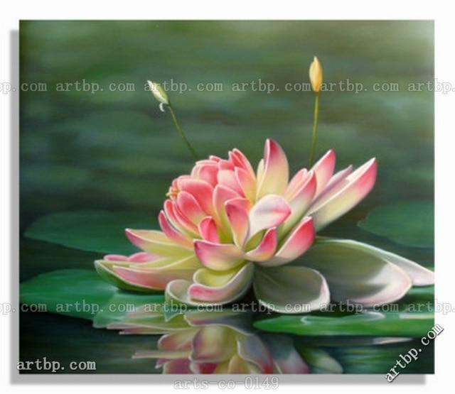Oil painting canvas modern art lotus flower art deco living room oil painting canvas modern art lotus flower art deco living room wall pictures abstract canvas art mightylinksfo