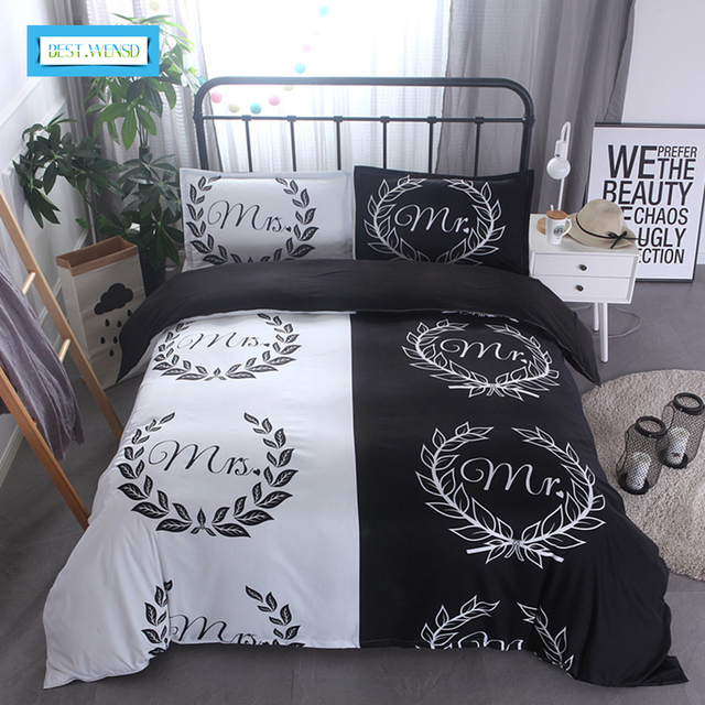 BEST.WENSD New Family Kids Bed Linens Microfiber Fabric High Quality Couple  Style Bedding Set
