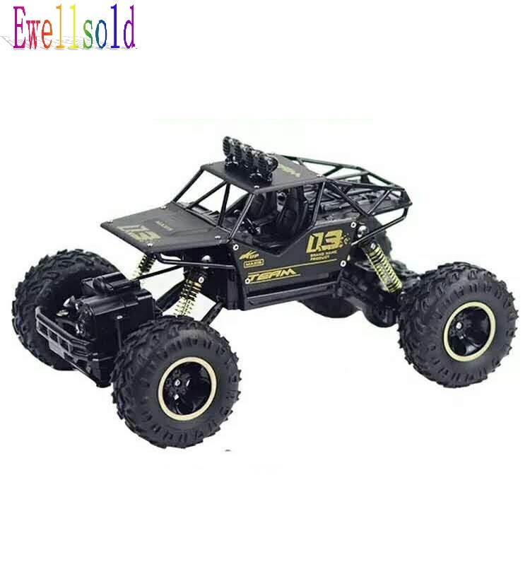 Ewellsold 1/16 RC Car 4WD 2.4GHz Rock Crawlers Rally climbing Car Bigfoot Car Remote Control Model Off-Road ...
