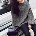 Autumn Winter 2016 Women Fashion Pullover Bat Sleeve Loose Womens Jumpers Sweaters And Pullovers Pull Femme Kazak